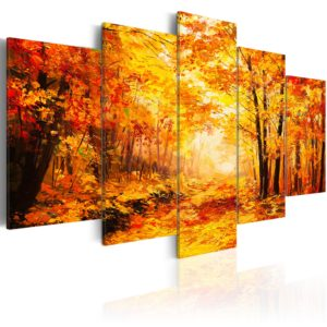 Wandbild - Autumn Alley