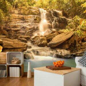 Fototapete - Sunny Waterfall