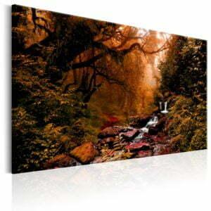 Wandbild - Autumn Waterfall