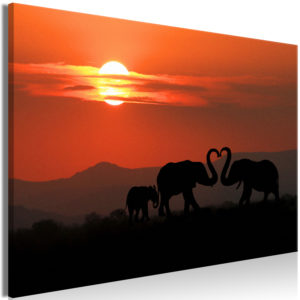 Wandbild - Elephants in Love (1 Part) Wide