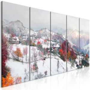 Wandbild - First Snow (5 Parts) Narrow