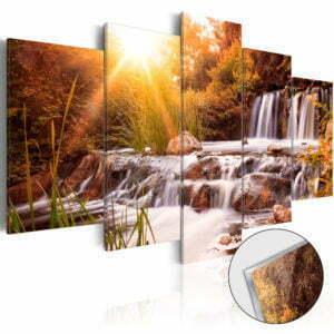 Acrylglasbild - Autumn's Valley [Glass]