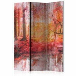 3-teiliges Paravent - Autumnal Forest [Room Dividers]