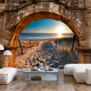 Fototapete - Arch and Beach
