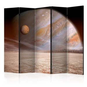 5-teiliges Paravent - A small and a big planet [Room Dividers]