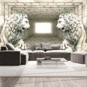 Fototapete - Chamber of lions