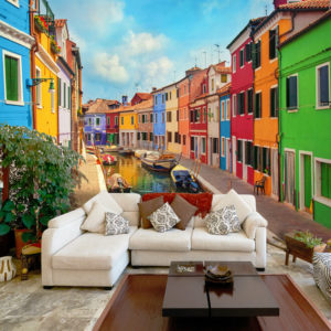 Fototapete -  Colorful Canal in Burano