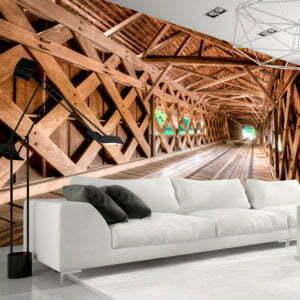 Fototapete - Die Holzbrücke