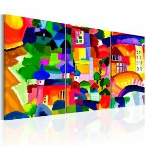 Wandbild - Colourful Town
