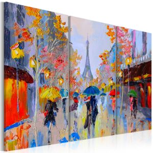 Wandbild - Rainy Paris