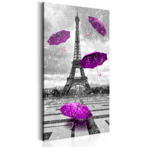 Wandbild - Paris: Purple Umbrellas
