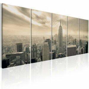 Wandbild - Beige Manhattan