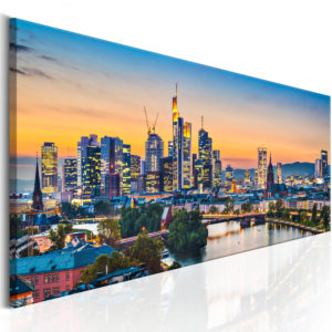 Wandbild - Evening in Frankfurt