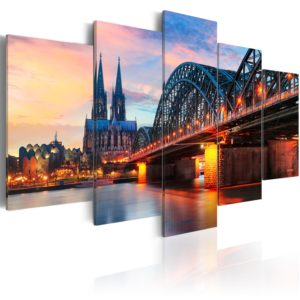 Wandbild - Evening in Cologne