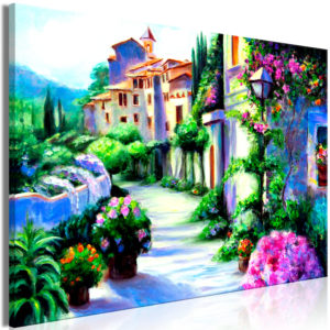 Wandbild - Flower Street (1 Part) Wide