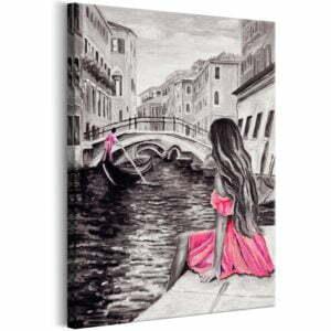 Wandbild - Woman in Venice (1 Part) Vertical