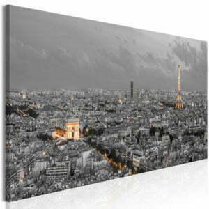 Wandbild - Panorama of Paris (1 Part) Narrow