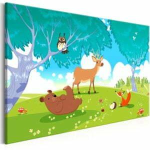 Wandbild - Friendly Animals (1 Part) Wide