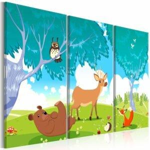 Wandbild - Friendly Animals (3 Parts)