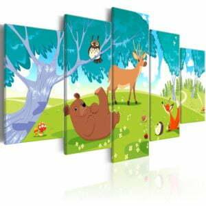 Wandbild - Friendly Animals (5 Parts)