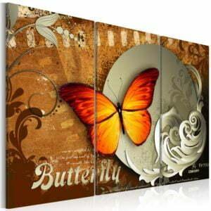 Wandbild - Fiery butterfly and  full moon