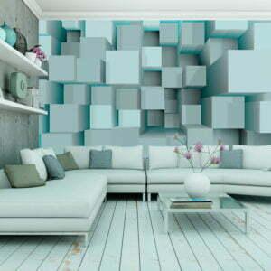 Fototapete - Blue puzzle