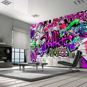 Fototapete -  Purple Graffiti