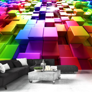 Fototapete - Colored Cubes