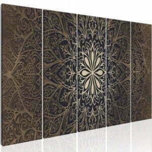 Wandbild - Brown Mandala