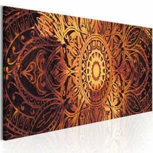 Wandbild - Amber Mandala