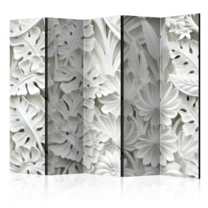 5-teiliges Paravent - Alabaster Garden II [Room Dividers]