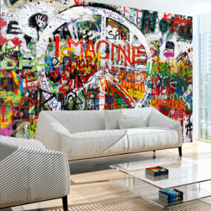 Fototapete - Hippie Graffiti