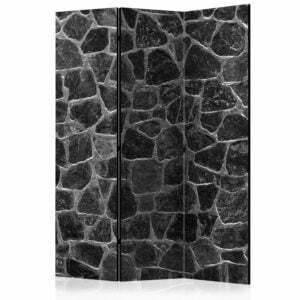 3-teiliges Paravent - Black Stones [Room Dividers]