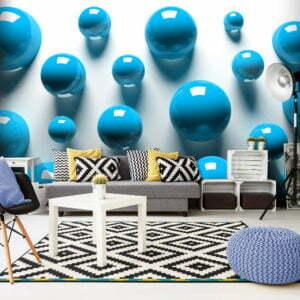 Fototapete - Blue Balls