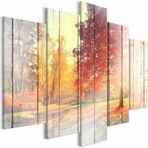 Wandbild - Autumn Sun (5 Parts) Wide