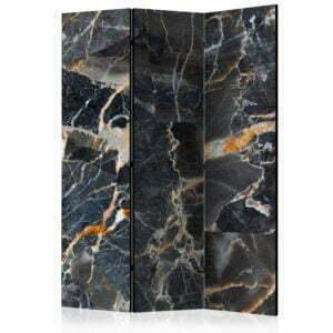 3-teiliges Paravent - Black Marble [Room Dividers]