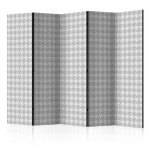 5-teiliges Paravent -  Dogtooth Check [Room Dividers]