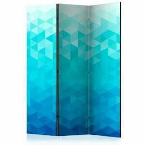 3-teiliges Paravent - Azure pixel [Room Dividers]