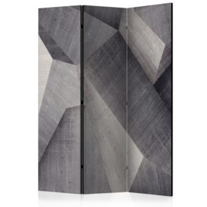3-teiliges Paravent - Abstract concrete blocks [Room Dividers]