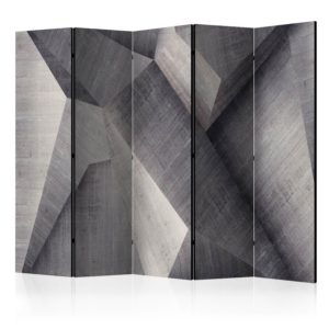 5-teiliges Paravent - Abstract concrete blocks [Room Dividers]