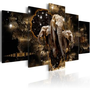 Wandbild - Brown Elephants