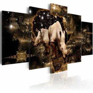 Wandbild - Golden Rhino