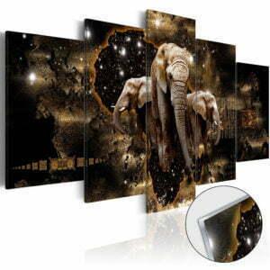 Acrylglasbild - Brown Elephants [Glass]