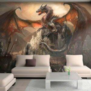 Fototapete - Dragon castle