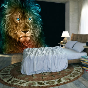 Fototapete - Abstract lion