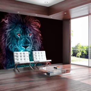 Fototapete - Abstract lion - rainbow