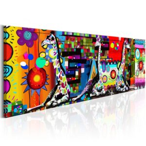 Wandbild - Colourful Savannah