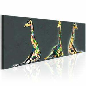 Wandbild - Colourful Giraffes