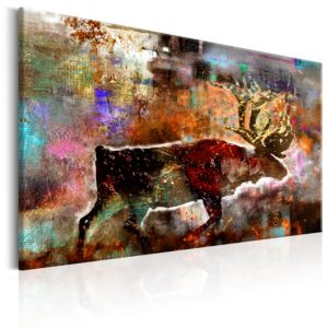 Wandbild - Colourful Caribou