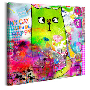 Wandbild - Crazy Cat